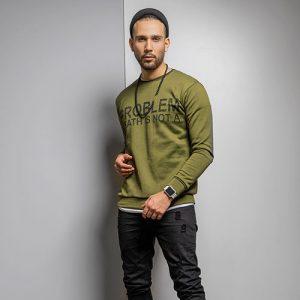 پلیور تو کرکی سبز مردانه مدل Alferd